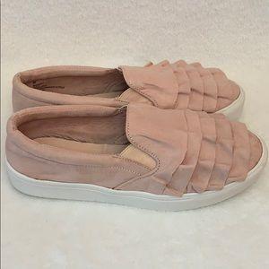 Mia Shoes - MIA Women's Pink Margaret Ruffled Slip-on Sneaker